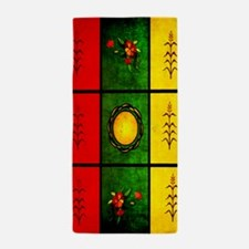 Red Yellow Green Tapestry Beach Towel