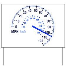 Racing - Speeding - MPH Yard Sign