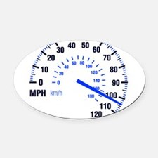 Racing - Speeding - MPH Oval Car Magnet
