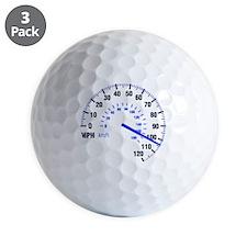 Racing - Speeding - MPH Golf Ball