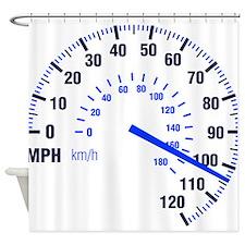 Racing - Speeding - MPH Shower Curtain