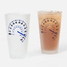 Racing - Speeding - MPH Drinking Glass