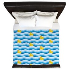 Rubber Ducky Swimming King Duvet