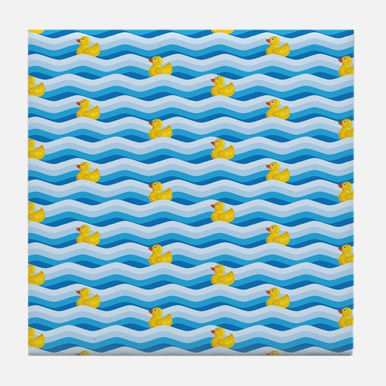 Rubber Ducky Swimming Tile Coaster