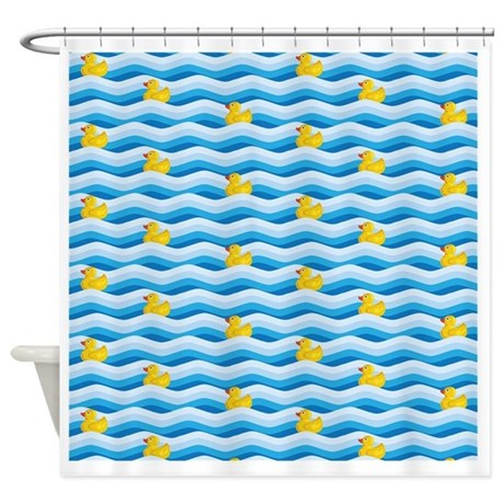 Rubber ducky swimming shower curtain by listing store 1053336 Swimming pool shower curtain