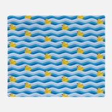 Rubber Ducky Swimming Throw Blanket