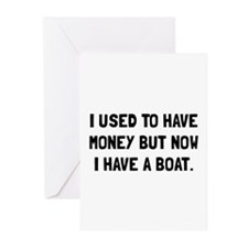 Money Now Boat Greeting Cards