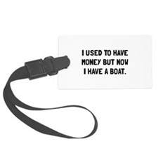 Money Now Boat Luggage Tag