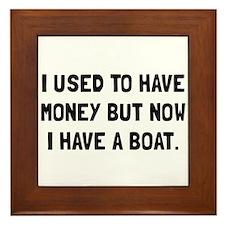Money Now Boat Framed Tile