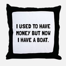 Money Now Boat Throw Pillow