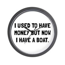 Money Now Boat Wall Clock