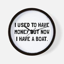 Money Now Boat Wall Clock