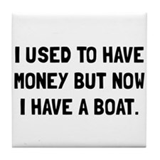 Money Now Boat Tile Coaster