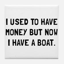 Money Now Boat Tile Coaster