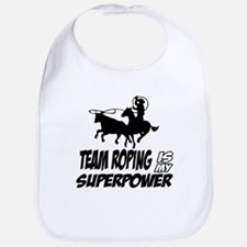 Team Roping designs Baby Bib