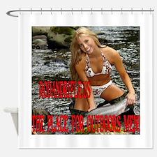 RodandRifleUS Bikini Fishing Shower Curtain