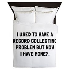 Money Record Collecting Problem Queen Duvet