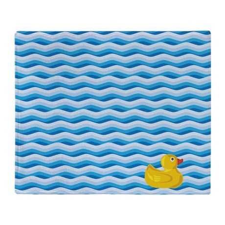 Lone Rubber Ducky Throw Blanket
