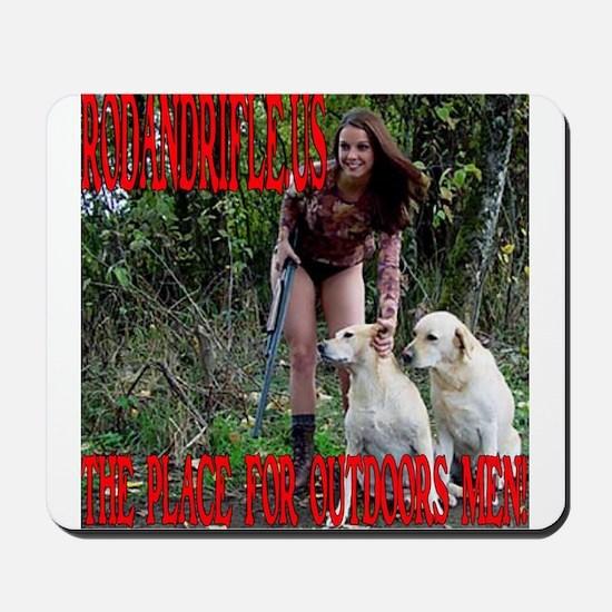 RodandRifle.US Hunting Dogs Mousepad