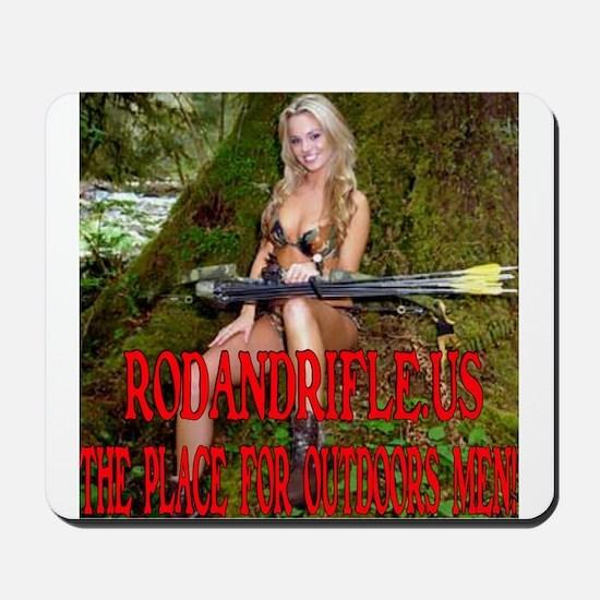 RodandRifle.US Archery Babe 2 Mousepad