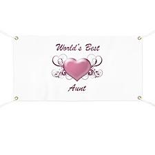 World's Best Aunt (Heart) Banner