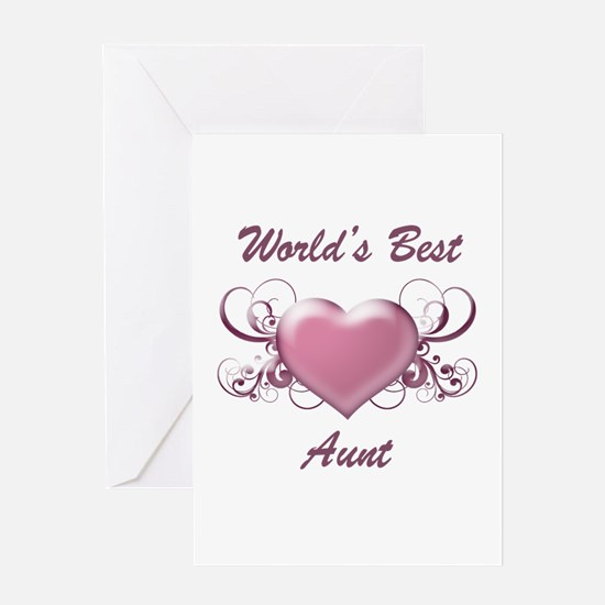 World's Best Aunt (Heart) Greeting Card