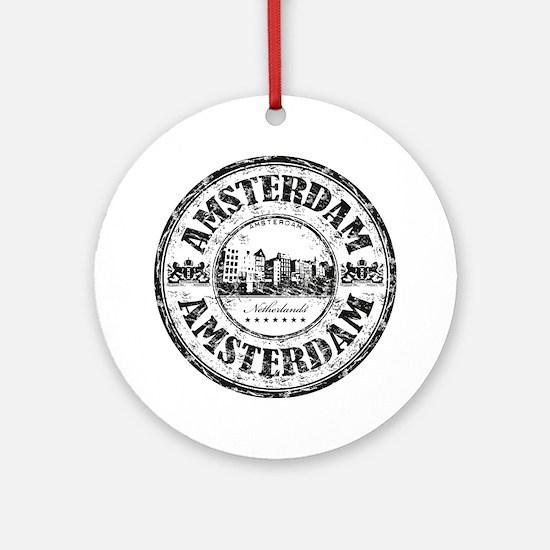 Amsterdam Seal Round Ornament