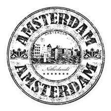 Amsterdam Seal Round Car Magnet