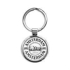 Amsterdam Seal Round Keychain