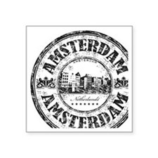 "Amsterdam Seal Square Sticker 3"" x 3"""