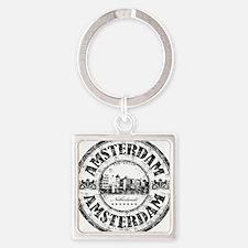 Amsterdam Seal Square Keychain