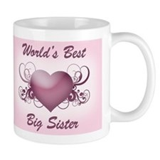 World's Best Big Sister (Heart) Mug