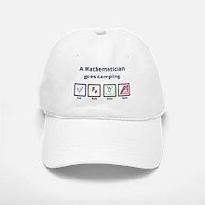 A Mathematician goes camping Baseball Baseball Baseball Cap