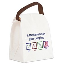 A Mathematician goes camping Canvas Lunch Bag