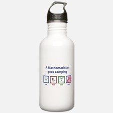 A Mathematician goes camping Water Bottle