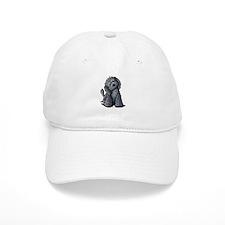 KiniArt Black Doodle Dog Baseball Cap
