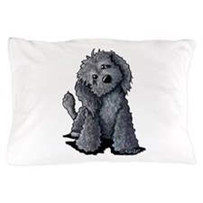 KiniArt Black Doodle Dog Pillow Case