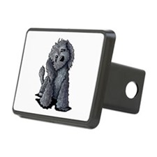 KiniArt Black Doodle Dog Hitch Cover