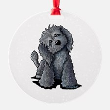 KiniArt Black Doodle Dog Ornament