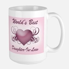 World's Best Daughter-In-Law (Heart) Mug