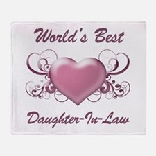 World's Best Daughter-In-Law (Heart) Throw Blanket