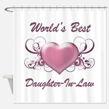 World's Best Daughter-In-Law (Heart) Shower Curtai