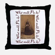 What would Flo Do? Throw Pillow