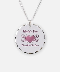 World's Best Daughter-In-Law (Heart) Necklace