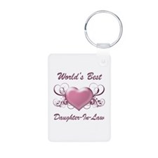 World's Best Daughter-In-Law (Heart) Keychains