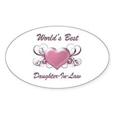 World's Best Daughter-In-Law (Heart) Decal