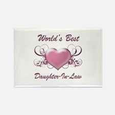 World's Best Daughter-In-Law (Heart) Rectangle Mag