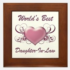 World's Best Daughter-In-Law (Heart) Framed Tile