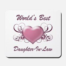 World's Best Daughter-In-Law (Heart) Mousepad