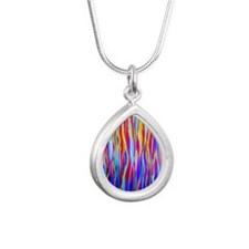 Transitions and Changes Silver Teardrop Necklace